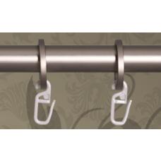 Metropolitan ripustusrenkaat mattakromi 19mm