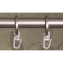 Metropolitan ripustusrenkaat mattakromi 19mm (10 kpl/paketti)
